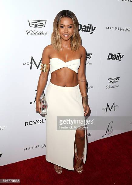 Actress Karrueche Tran attends the Daily Front Row 'Fashion Los Angeles Awards' at Sunset Tower Hotel on March 20 2016 in West Hollywood California