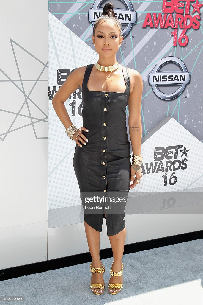 Actress <a gi-track='captionPersonalityLinkClicked' href=/galleries/search?phrase=Karrueche+Tran&family=editorial&specificpeople=9447374 ng-click='$event.stopPropagation()'>Karrueche Tran</a> attends the Make A Wish VIP Experience at the 2016 BET Awards on June 26, 2016 in Los Angeles, California.