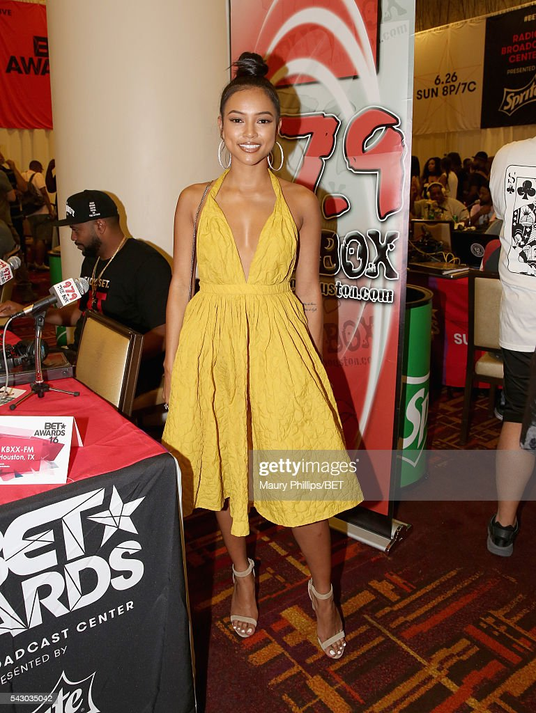 Actress <a gi-track='captionPersonalityLinkClicked' href=/galleries/search?phrase=Karrueche+Tran&family=editorial&specificpeople=9447374 ng-click='$event.stopPropagation()'>Karrueche Tran</a> attends the radio broadcast center during the 2016 BET Experience at the JW Marriott Los Angeles L.A. Live on June 25, 2016 in Los Angeles, California.