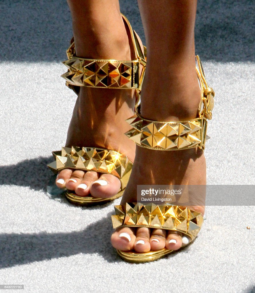 Actress <a gi-track='captionPersonalityLinkClicked' href=/galleries/search?phrase=Karrueche+Tran&family=editorial&specificpeople=9447374 ng-click='$event.stopPropagation()'>Karrueche Tran</a>, shoe detail, attends the 2016 BET Awards at Microsoft Theater on June 26, 2016 in Los Angeles, California.