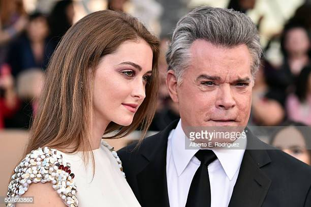 Actress Karsen Liotta and actor Ray Liotta attend the 22nd Annual Screen Actors Guild Awards at The Shrine Auditorium on January 30 2016 in Los...