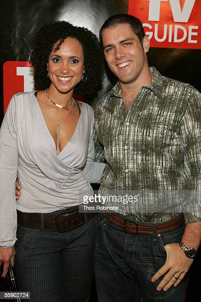 Actress Karyn Bryant and Wade Eck attend TV Guide's Launch of New Magazine at Home Guest House on October 11 2005 in New York City