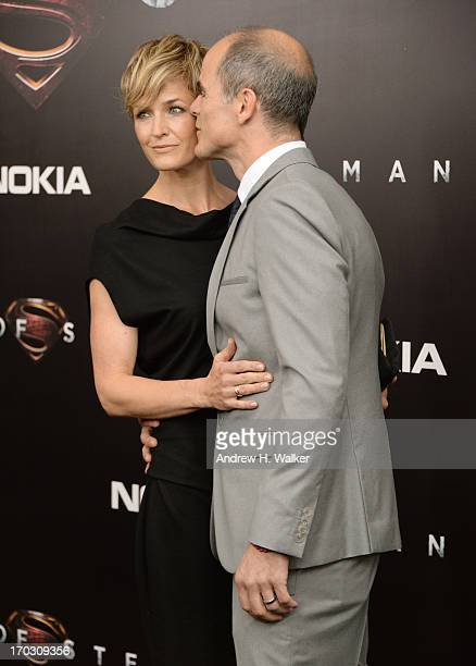 Actress Karyn Mendel and Actor Michael Kelly attend the 'Man Of Steel' world premiere at Alice Tully Hall at Lincoln Center on June 10 2013 in New...