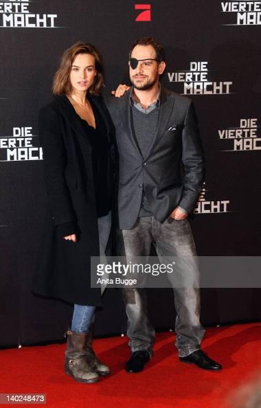 Actress Kasia Smutniak and actor Moritz Bleibtreu attend 'Die Vierte Macht' World Premiere at the CineStar Sony Center on March 1 2012 in Berlin...