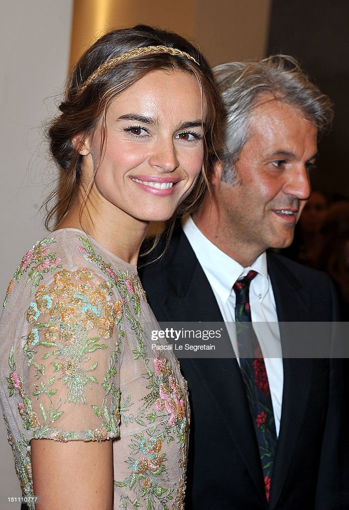 Actress Kasia Smutniak and producer Domenico Procacci (R) attend 'The Master' Premiere during The 69th Venice Film Festival at the Palazzo del Cinema on September 1, 2012 in Venice, Italy.