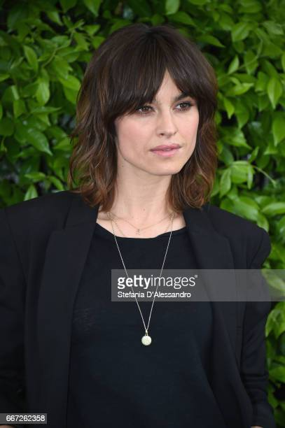 Actress Kasia Smutniak attends a photocall for 'Moglie E Marito' on April 11 2017 in Milan Italy