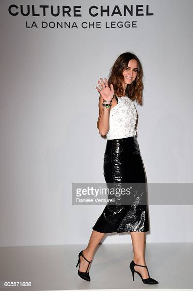 Actress Kasia Smutniak attends 'Culture CHANEL' exhibition opening at The International Gallery of Modern Art Ca' Pesaro on September 15 2016 in...