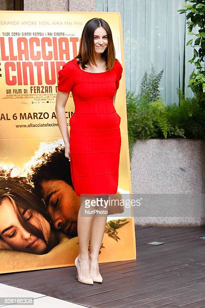 actress Kasia Smutniak attends 'Fasten your Seatbelts' photocall in Rome Visconti Palace