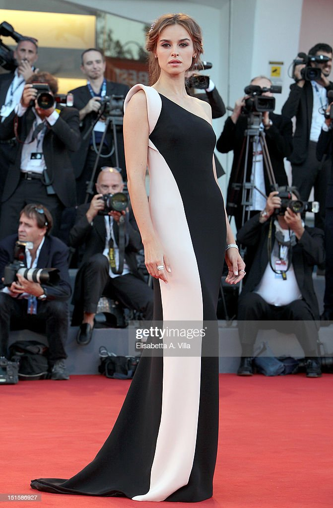 Actress Kasia Smutniak attends the Award Ceremony And 'L'Homme Qui Rit' Premiere during The 69th Venice Film Festival at the Palazzo del Cinema on September 8, 2012 in Venice, Italy.