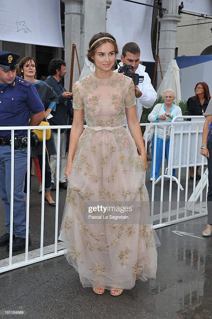 Actress Kasia Smutniak attends the 'E Stato Il Figlio' Premiere during The 69th Venice Film Festival at the Palazzo del Cinema on September 1, 2012 in Venice, Italy.