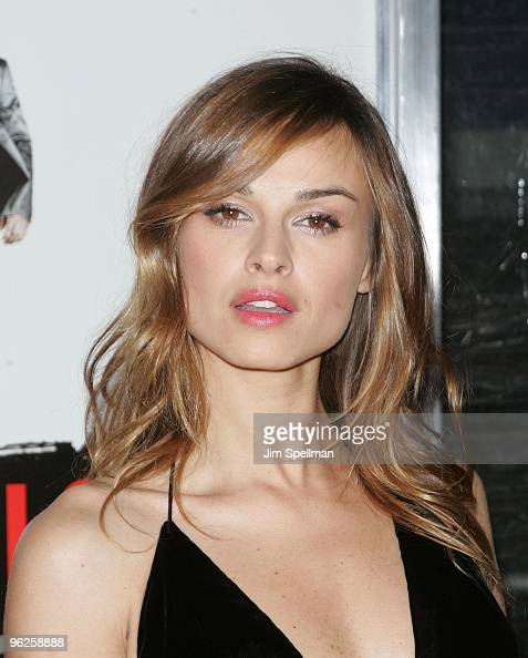 Actress Kasia Smutniak attends the 'From Paris With Love' premiere at the Ziegfeld Theatre on January 28 2010 in New York City