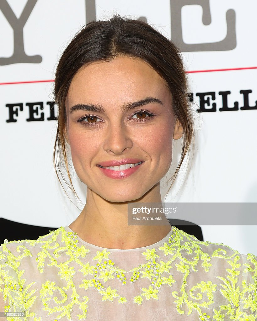 Actress Kasia Smutniak attends the premiere of 'The Great Beauty' at the Cinema Italian Style 2013 Opening Night at the Egyptian Theatre on November 14, 2013 in Hollywood, California.