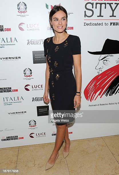 Actress Kasia Smutniak attends the press reception announcing The Lineup for The Cinema Italian Style 2013 Film Festival at Sunset Tower on November...