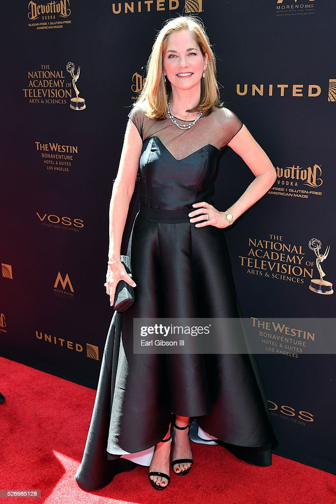 Actress Kassie Wesley DePaiva arrives at the 43rd Annual Daytime Emmy Awards at the Westin Bonaventure Hotel on May 1, 2016 in Los Angeles, California.