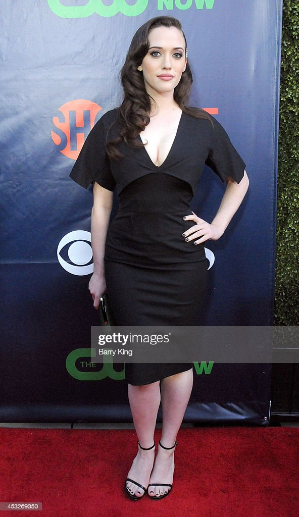 Actress <a gi-track='captionPersonalityLinkClicked' href=/galleries/search?phrase=Kat+Dennings&family=editorial&specificpeople=846118 ng-click='$event.stopPropagation()'>Kat Dennings</a> arrives at the CBS, The CW, Showtime & CBS Television Distribution 2014 Television Critics Association Summer Press Tour at Pacific Design Center on July 17, 2014 in West Hollywood, California.