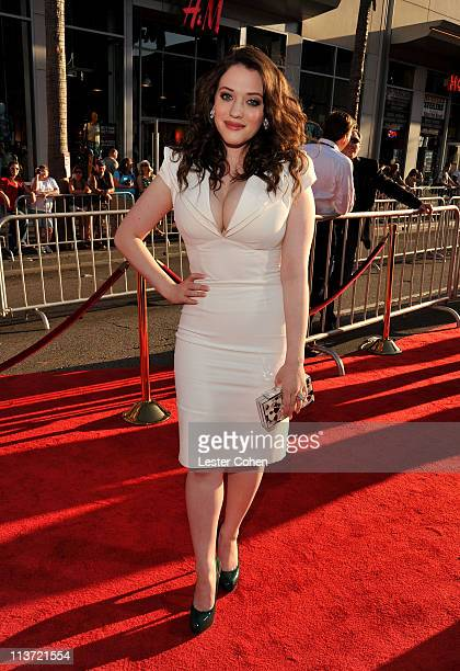 Actress Kat Dennings arrives at the Los Angeles premiere of 'Thor' at the El Capitan Theatre on May 2 2011 in Hollywood California