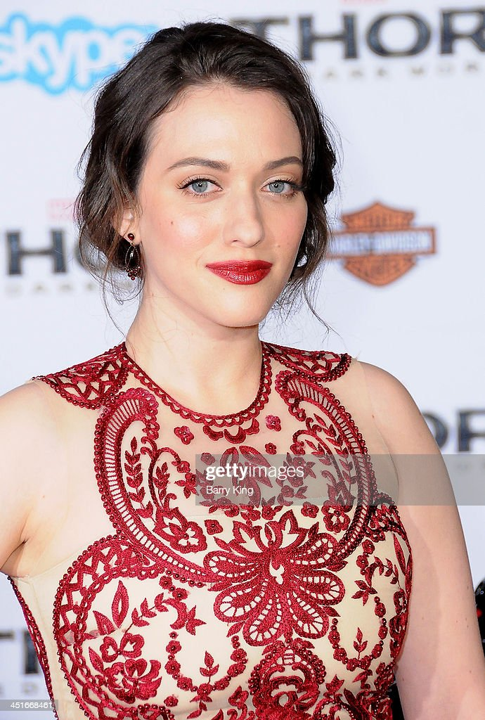 Actress Kat Dennings arrives at the Los Angeles Premiere 'Thor: The Dark World' on November 4, 2013 at the El Capitan Theatre in Hollywood, California.