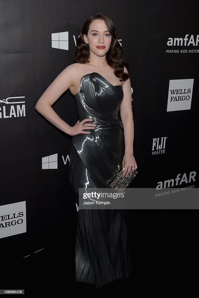 Actress <a gi-track='captionPersonalityLinkClicked' href=/galleries/search?phrase=Kat+Dennings&family=editorial&specificpeople=846118 ng-click='$event.stopPropagation()'>Kat Dennings</a> attends the 2014 amfAR LA Inspiration Gala at Milk Studios on October 29, 2014 in Hollywood, California.
