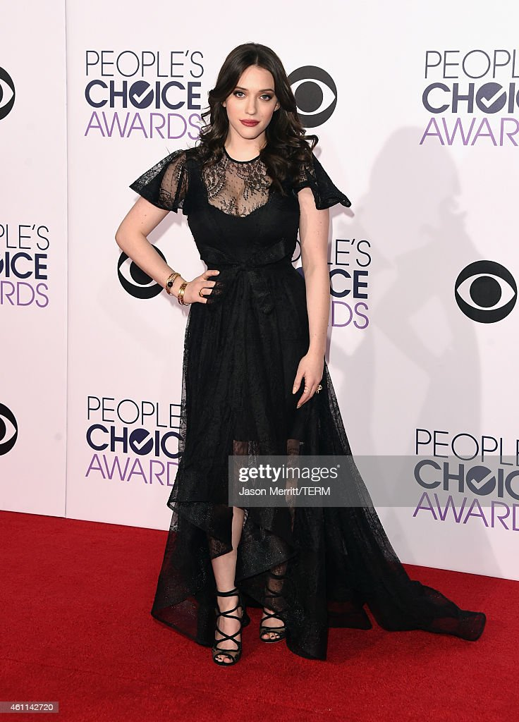 Actress <a gi-track='captionPersonalityLinkClicked' href=/galleries/search?phrase=Kat+Dennings&family=editorial&specificpeople=846118 ng-click='$event.stopPropagation()'>Kat Dennings</a> attends The 41st Annual People's Choice Awards at Nokia Theatre LA Live on January 7, 2015 in Los Angeles, California.