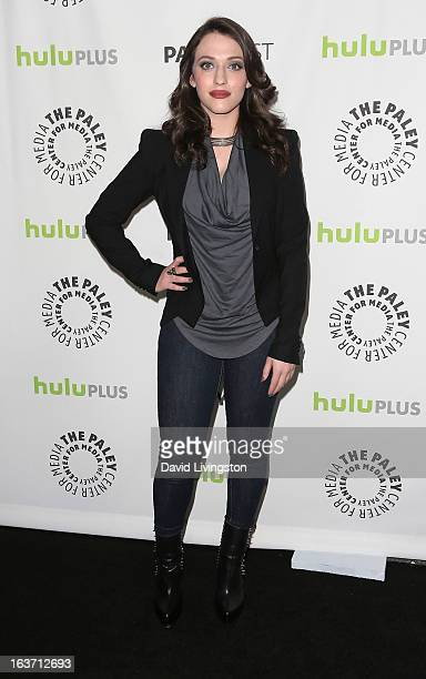 Actress Kat Dennings attends The Paley Center For Media's PaleyFest 2013 honoring '2 Broke Girls' at the Saban Theatre on March 14 2013 in Beverly...