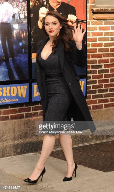 Actress Kat Dennings is seen on February 25 2014 in New York City