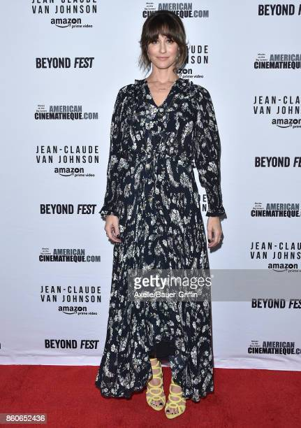 Actress Kat Foster arrives at the Beyond Fest screening of Amazon's 'JeanClaude Van Johnson' at The Egyptian Theatre on October 9 2017 in Los Angeles...