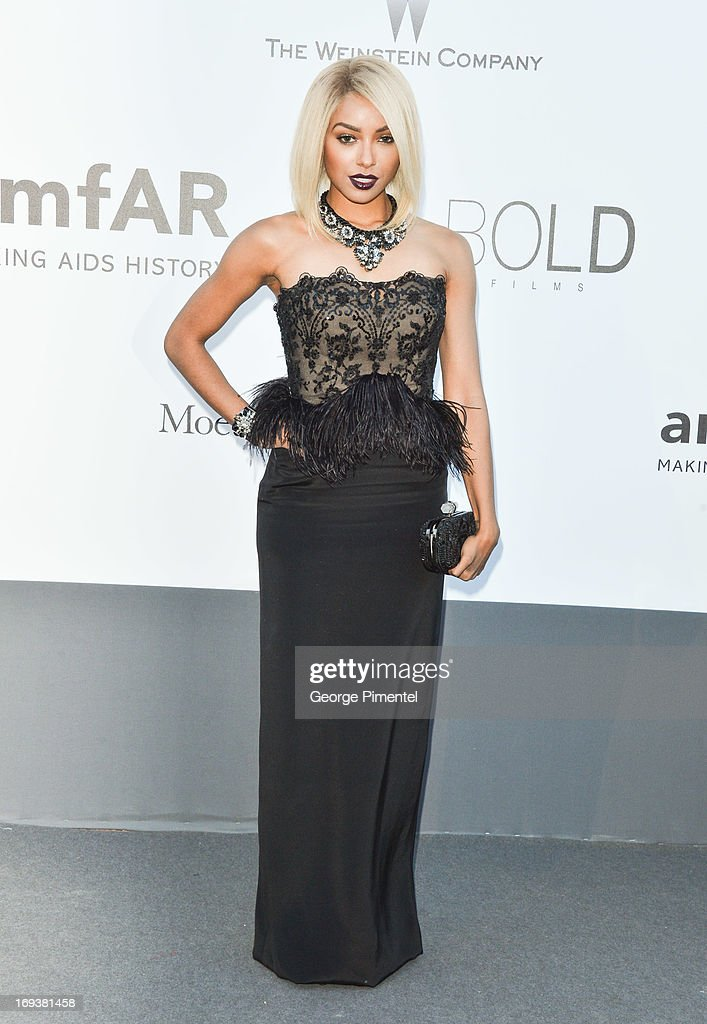 Actress Kat Graham arrives at amfAR's 20th Annual Cinema Against AIDS at Hotel du Cap-Eden-Roc on May 23, 2013 in Cap d'Antibes, France.