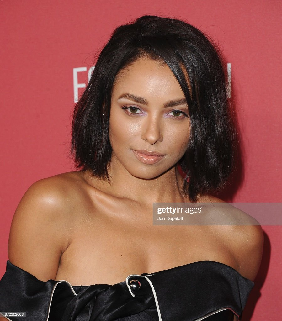 Actress Kat Graham arrives at SAG-AFTRA Foundation Patron of the Artists Awards 2017 on November 9, 2017 in Beverly Hills, California.