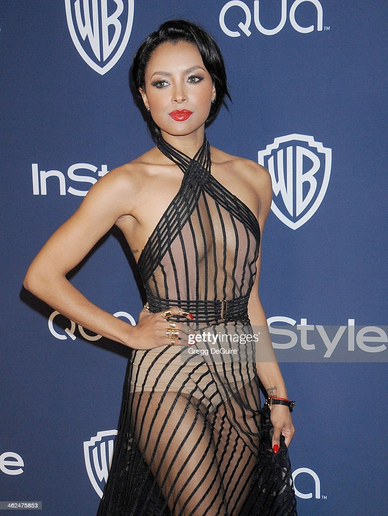 Actress Kat Graham arrives at the 2014 InStyle And Warner Bros. 71st Annual Golden Globe Awards post-party at The Beverly Hilton Hotel on January 12, 2014 in Beverly Hills, California.