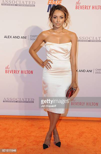 Actress Kat Graham arrives at the 23rd Annual Race To Erase MS Gala at The Beverly Hilton Hotel on April 15 2016 in Beverly Hills California