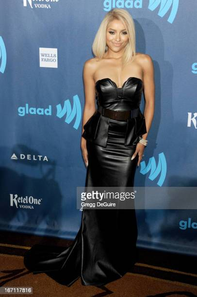 Actress Kat Graham arrives at the 24th Annual GLAAD Media Awards at JW Marriott Los Angeles at LA LIVE on April 20 2013 in Los Angeles California