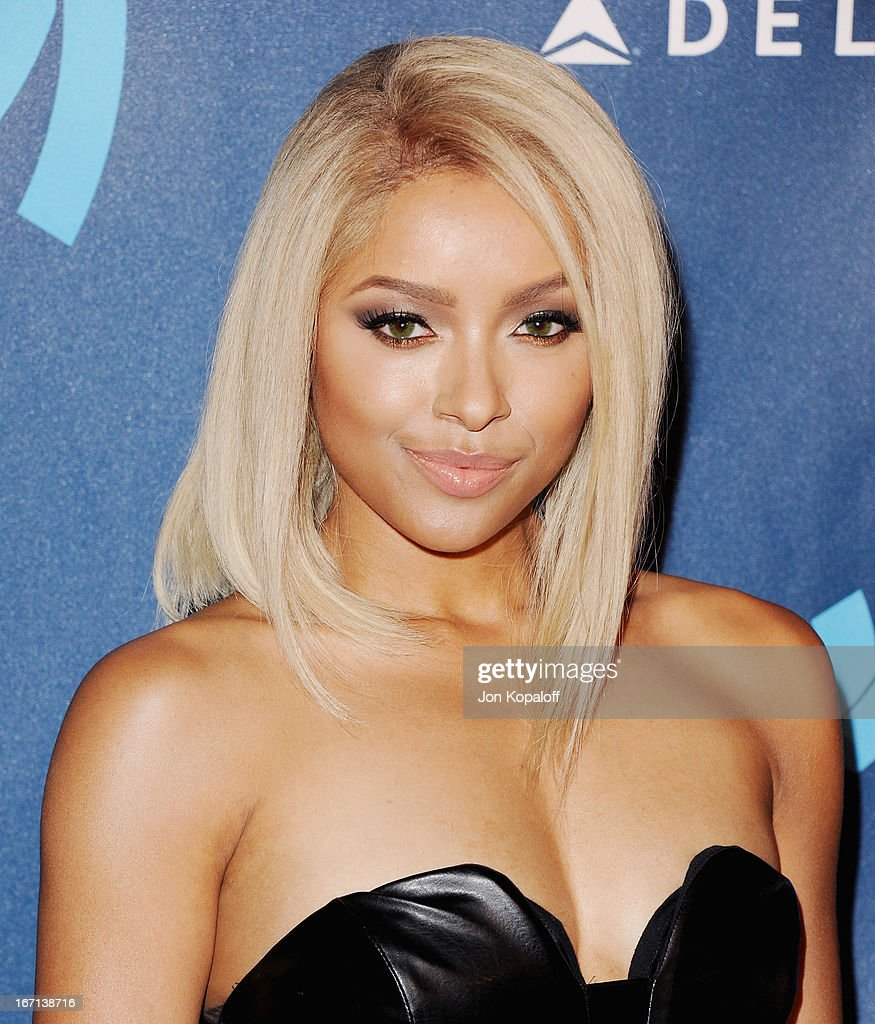 Actress Kat Graham arrives at the 24th Annual GLAAD Media Awards at JW Marriott Los Angeles at L.A. LIVE on April 20, 2013 in Los Angeles, California.