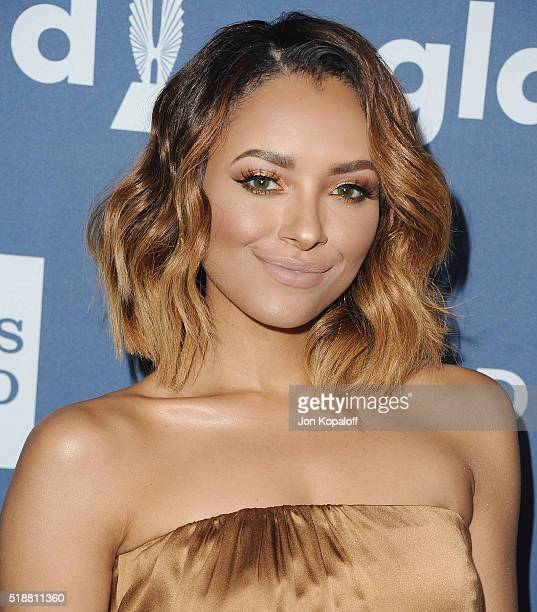 Actress Kat Graham arrives at the 27th Annual GLAAD Media Awards at The Beverly Hilton Hotel on April 2 2016 in Beverly Hills California
