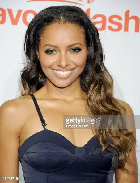 Actress Kat Graham arrives at the Aquafina FlavorSplash Launch Party at Sony Pictures Studios on October 15 2013 in Culver City California