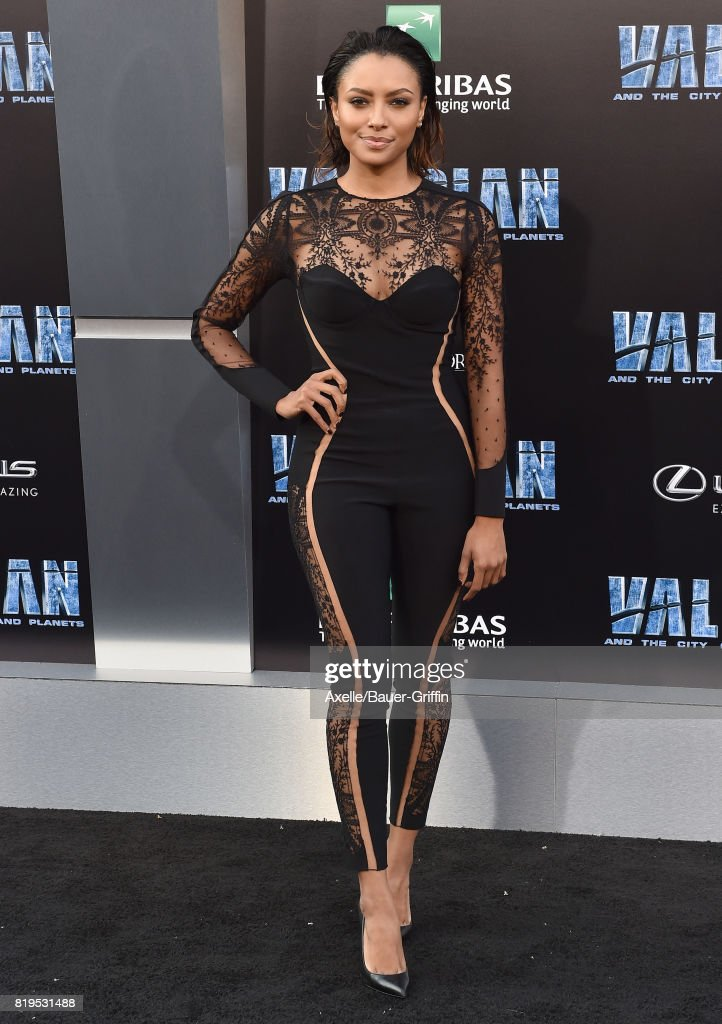 Actress Kat Graham arrives at the Los Angeles premiere of 'Valerian and the City of a Thousand Planets' at TCL Chinese Theatre on July 17, 2017 in Hollywood, California.