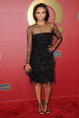Actress Kat Graham arrives at the QVC 5th Annual Red Carpet Style event at The Four Seasons Hotel on February 28 2014 in Beverly Hills California