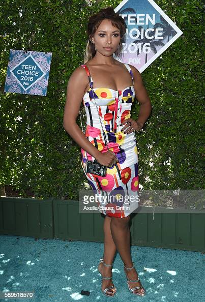 Actress Kat Graham arrives at the Teen Choice Awards 2016 at The Forum on July 31 2016 in Inglewood California