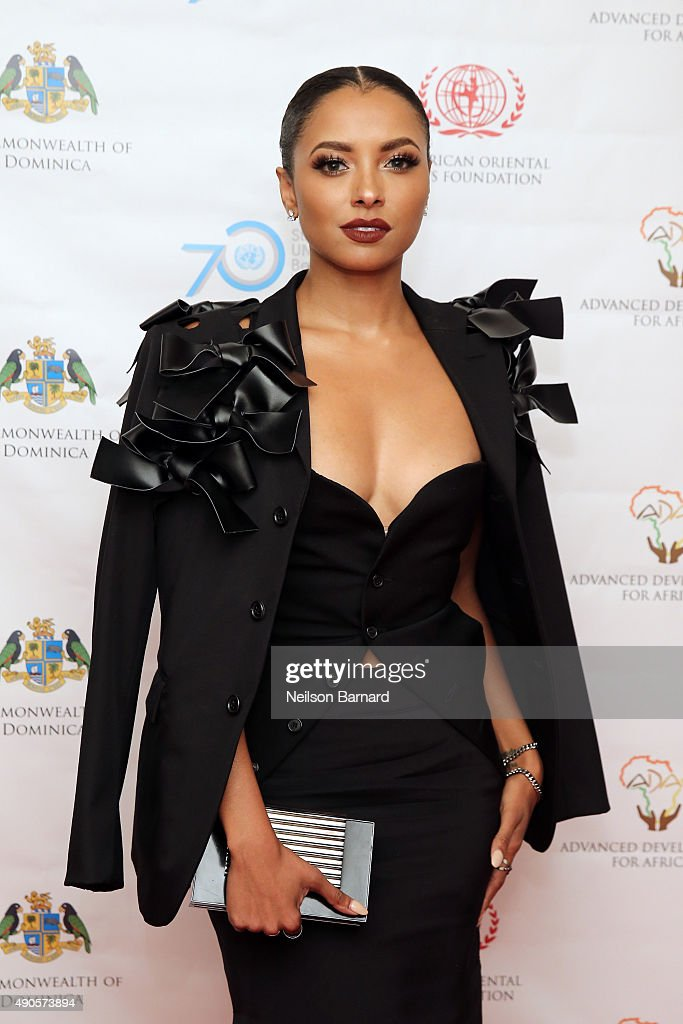 Actress Kat Graham attends a reception gala for the 70th Anniversary of the United Nations and the Post-2015 Development Agenda at United Nations on September 29, 2015 in New York City.