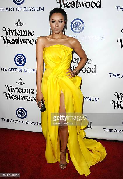 Actress Kat Graham attends Art of Elysium's 9th annual Heaven Gala at 3LABS on January 9 2016 in Culver City California