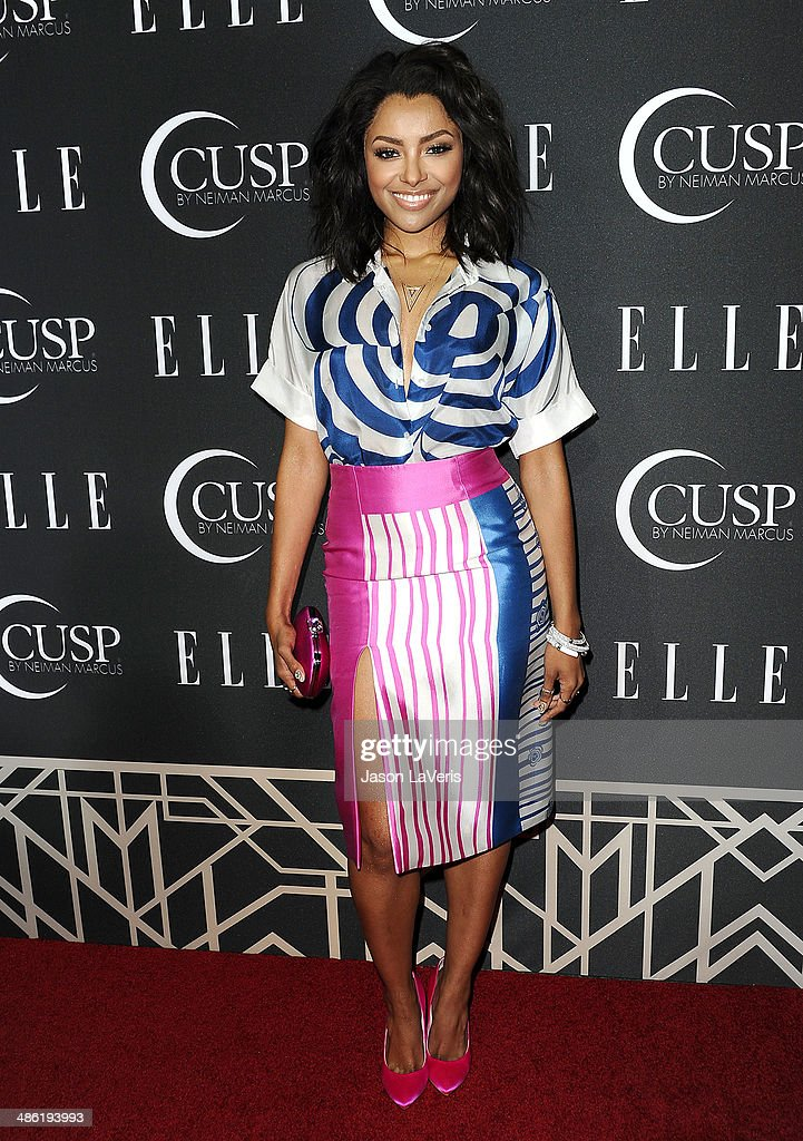 Actress Kat Graham attends ELLE's 5th annual Women In Music concert celebration at Avalon on April 22, 2014 in Hollywood, California.