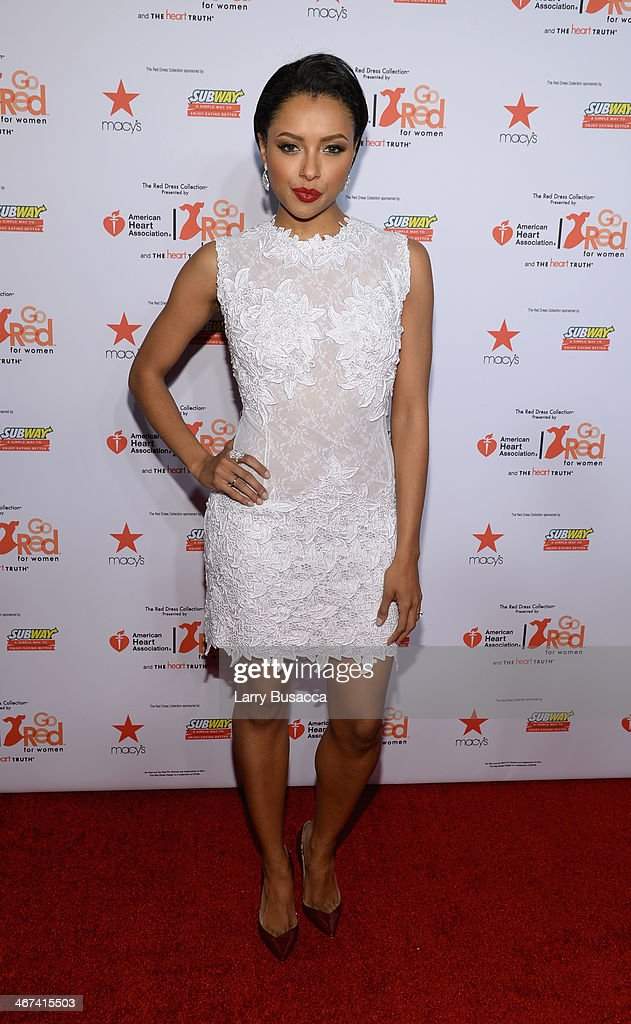 Actress Kat Graham attends Go Red For Women The Heart Truth Red Dress Collection 2014 Show Made Possible By Macy's And SUBWAY Restaurants at The Theatre at Lincoln Center on February 6, 2014 in New York City.