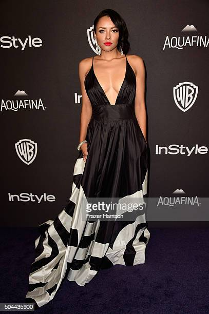 Actress Kat Graham attends InStyle and Warner Bros 73rd Annual Golden Globe Awards PostParty at The Beverly Hilton Hotel on January 10 2016 in...