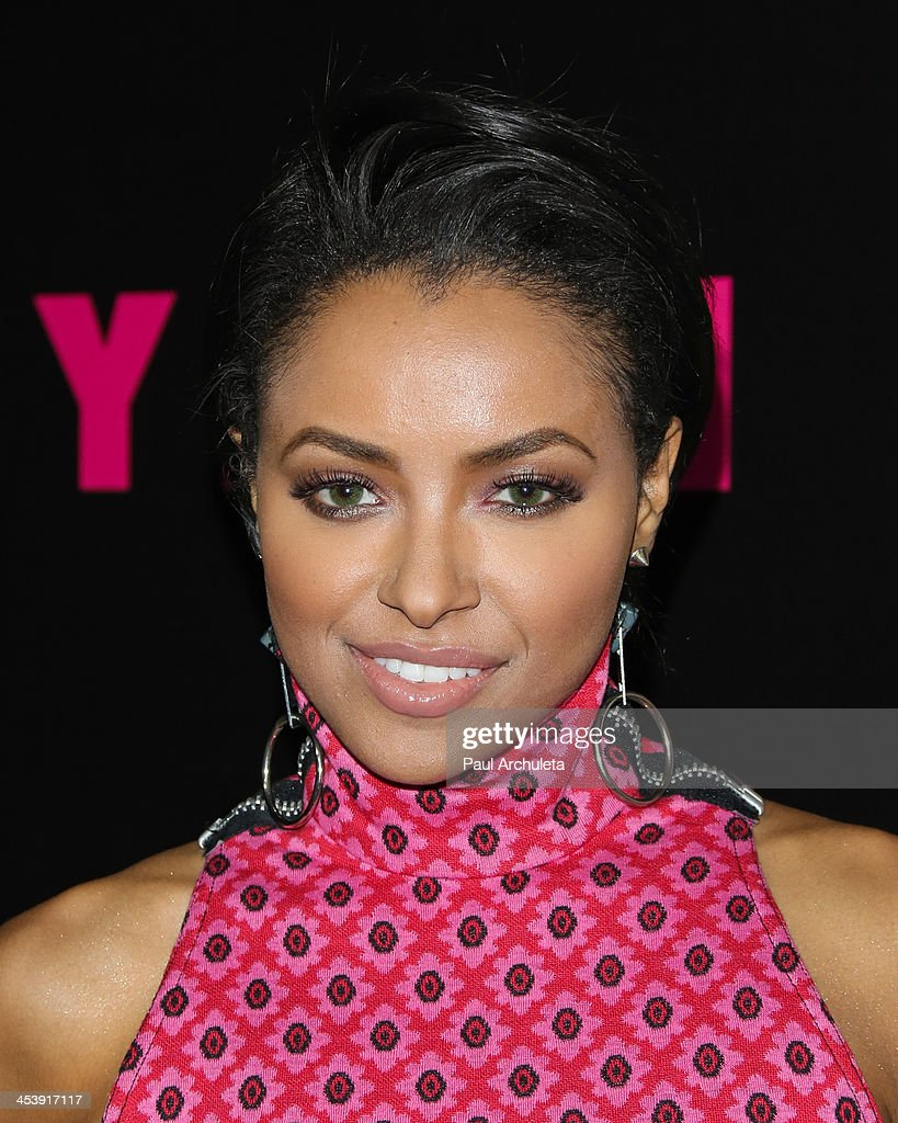 Actress Kat Graham attends NYLON Magazine's December issue celebration at Smashbox West Hollywood on December 5, 2013 in West Hollywood, California.