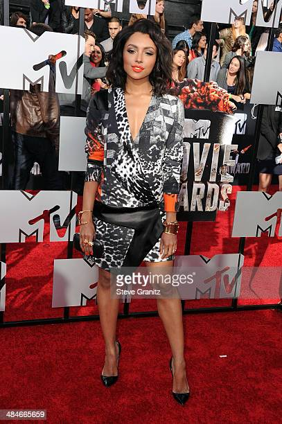 Actress Kat Graham attends the 2014 MTV Movie Awards at Nokia Theatre LA Live on April 13 2014 in Los Angeles California