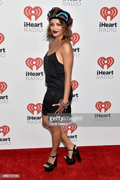Actress Kat Graham attends the 2015 iHeartRadio Music Festival at MGM Grand Garden Arena on September 19 2015 in Las Vegas Nevada