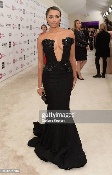 Actress Kat Graham attends the 23rd Annual Elton John AIDS Foundation Academy Awards viewing party with Chopard on February 22 2015 in Los Angeles...