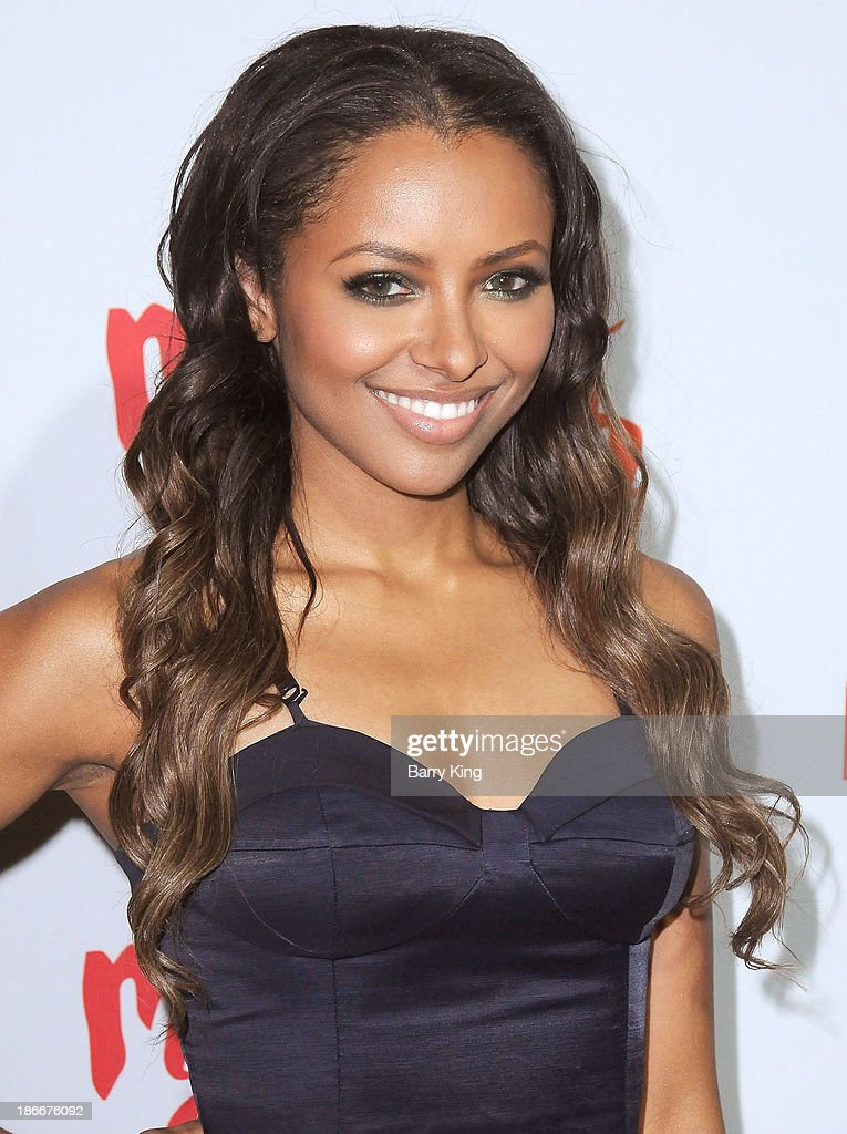 Actress Kat Graham attends the Aquafina FlavorSplash Launch on October 15, 2013 at Sony Pictures Studios in Culver City, California.