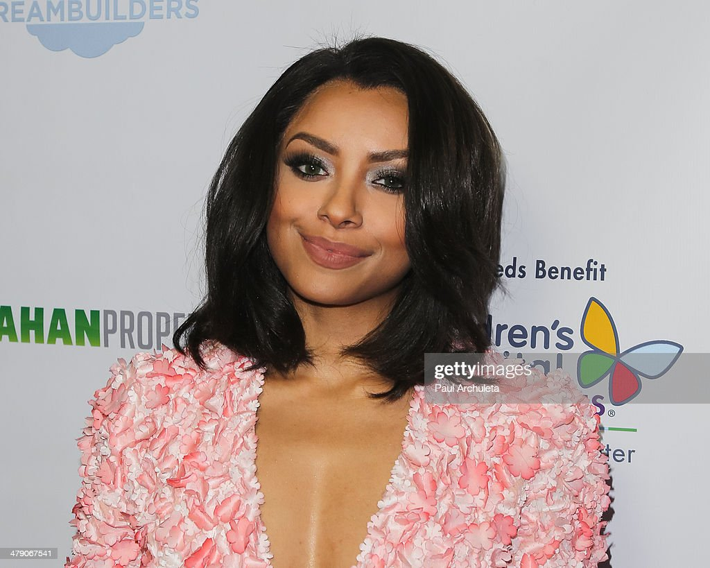 Actress Kat Graham attends the Dream Builders project's 'A Brighter Future For Children' benefit at H.O.M.E. on March 15, 2014 in Beverly Hills, California.