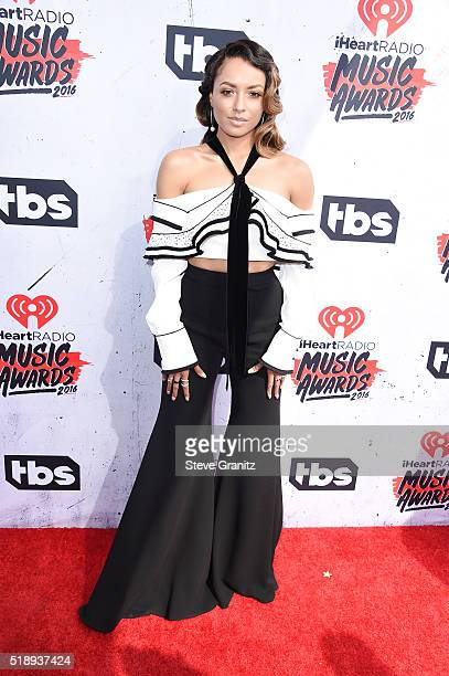 Actress Kat Graham attends the iHeartRadio Music Awards at The Forum on April 3 2016 in Inglewood California