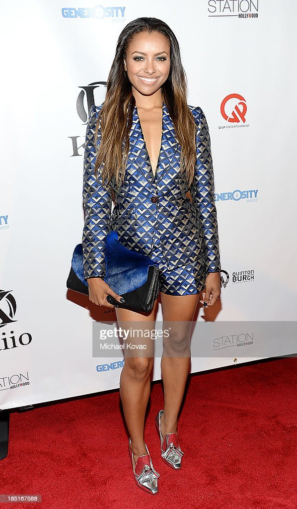 Actress Kat Graham attends the Kaiio Launch Event at W Hollywood on October 17 2013 in Hollywood California